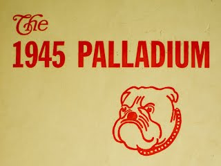1945 Palladium Yearbook Cover